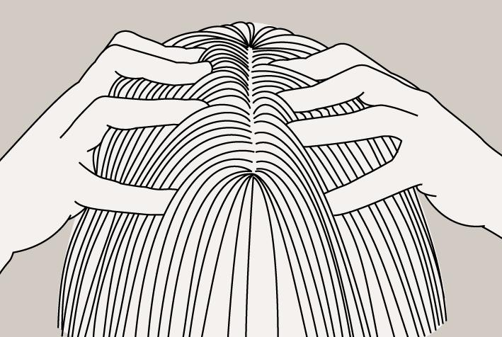 Cheveux féminins