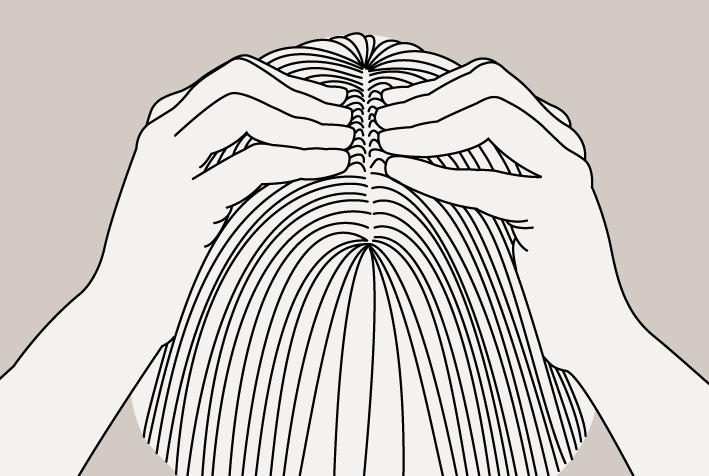 Sur cheveux féminins