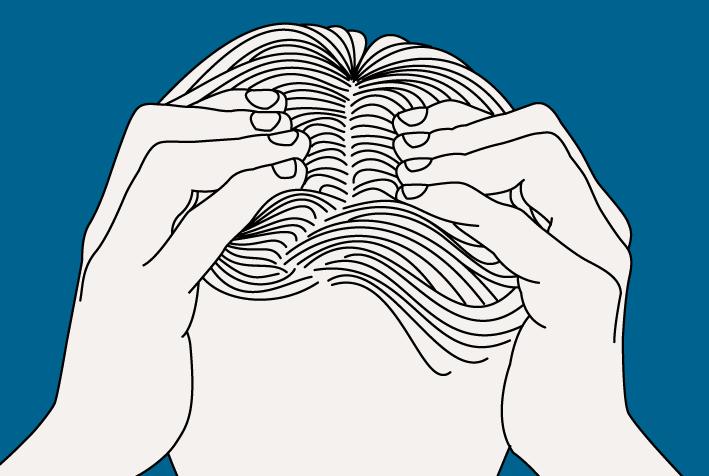 Sur cheveux masculins