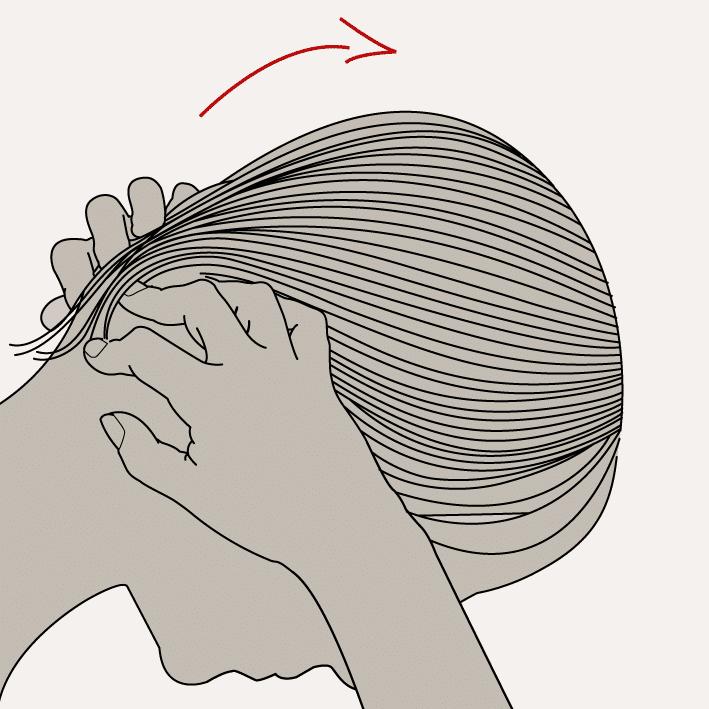 Massages pour la repousse des cheveux crépus