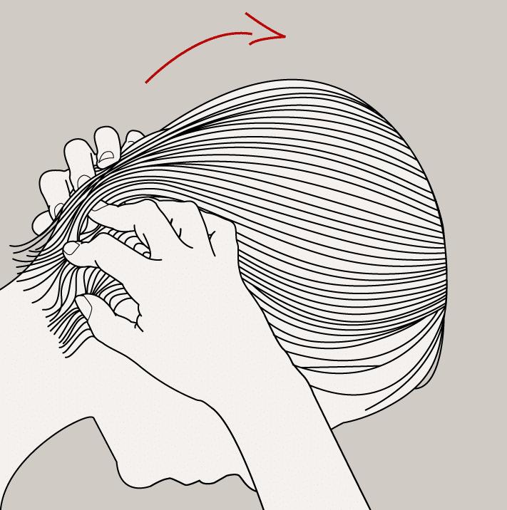 Massages favorisant la repousse des cheveux féminins