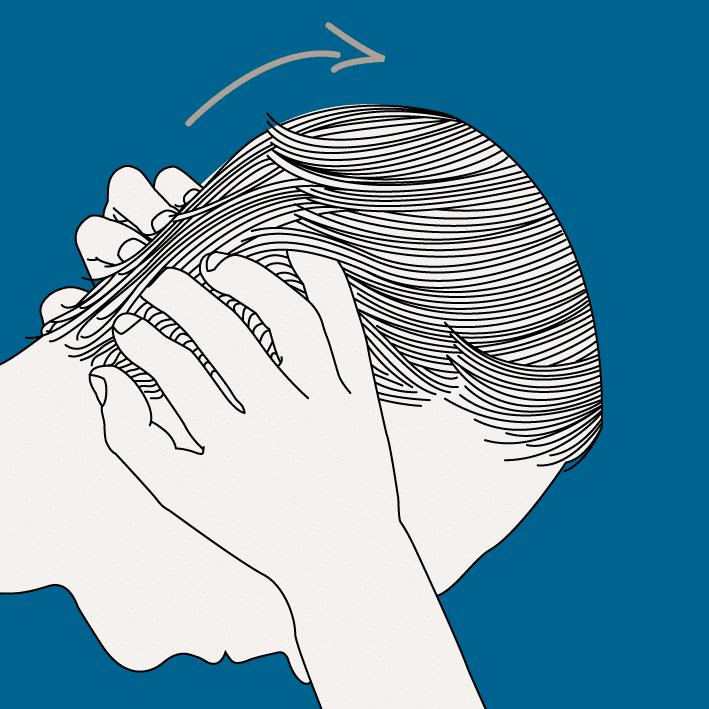Massages favorisant la repousse des cheveux masculins